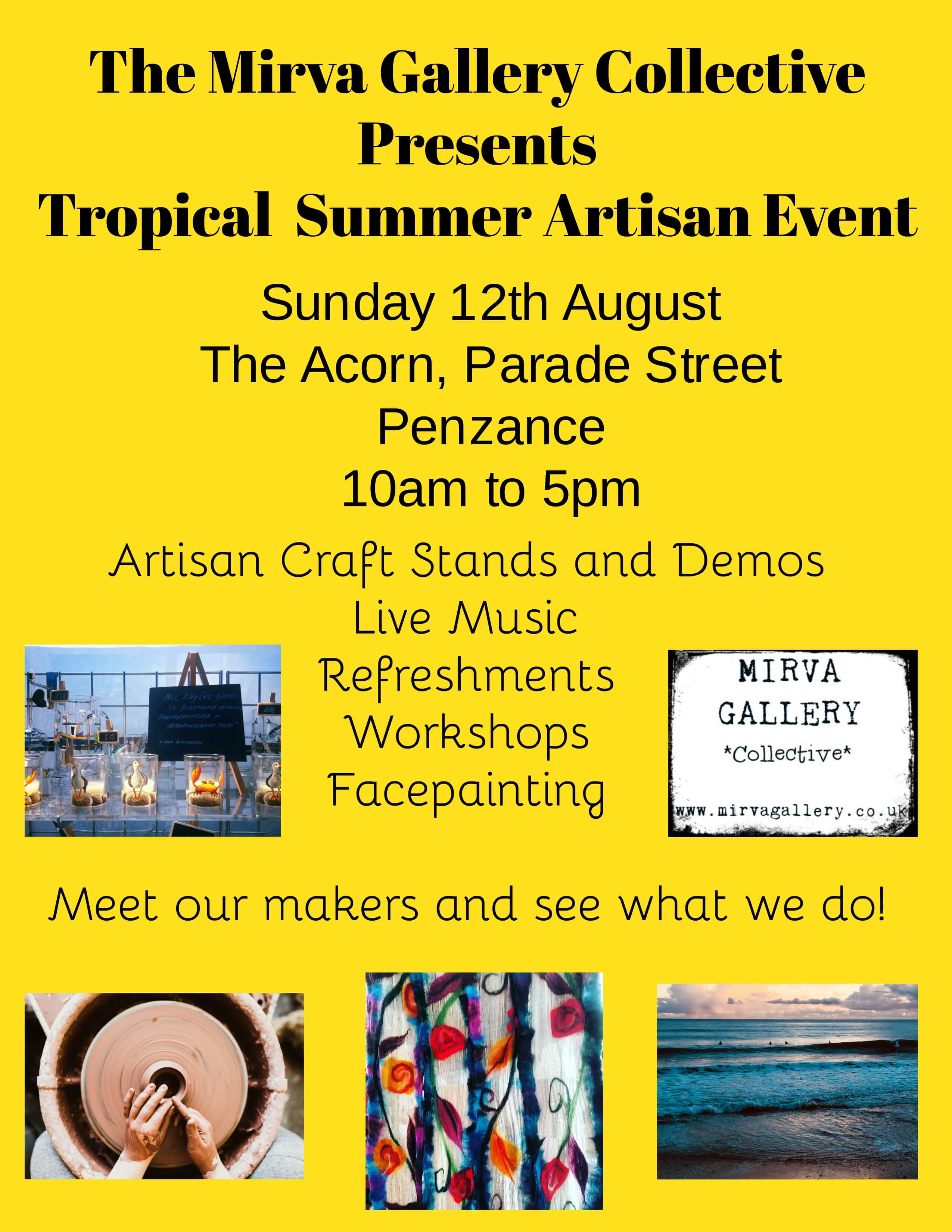 The Mirva Gallery Collective Presents Tropical Summer Artisan Event