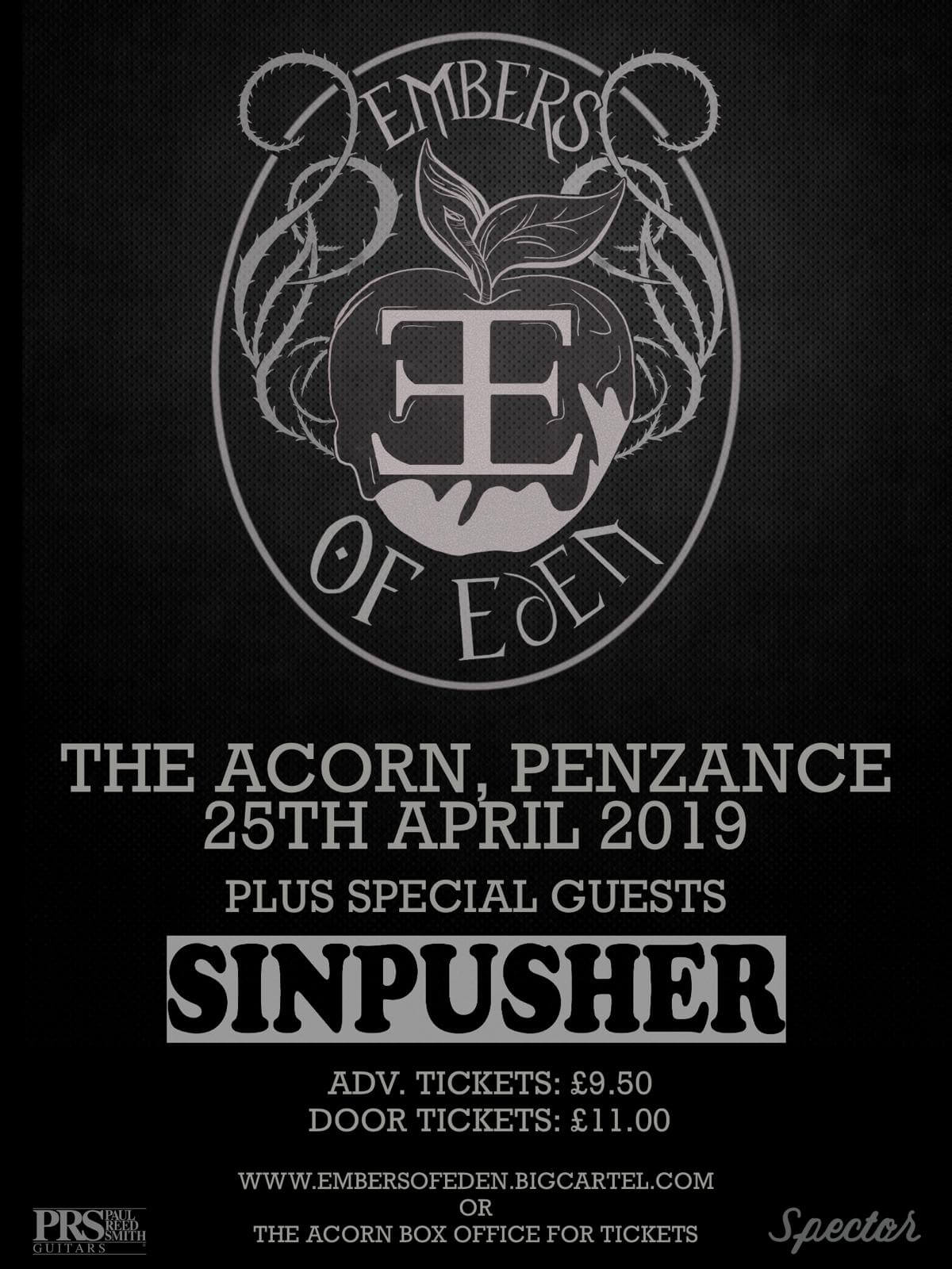 Embers Of Eden + Special Guests Sinpusher
