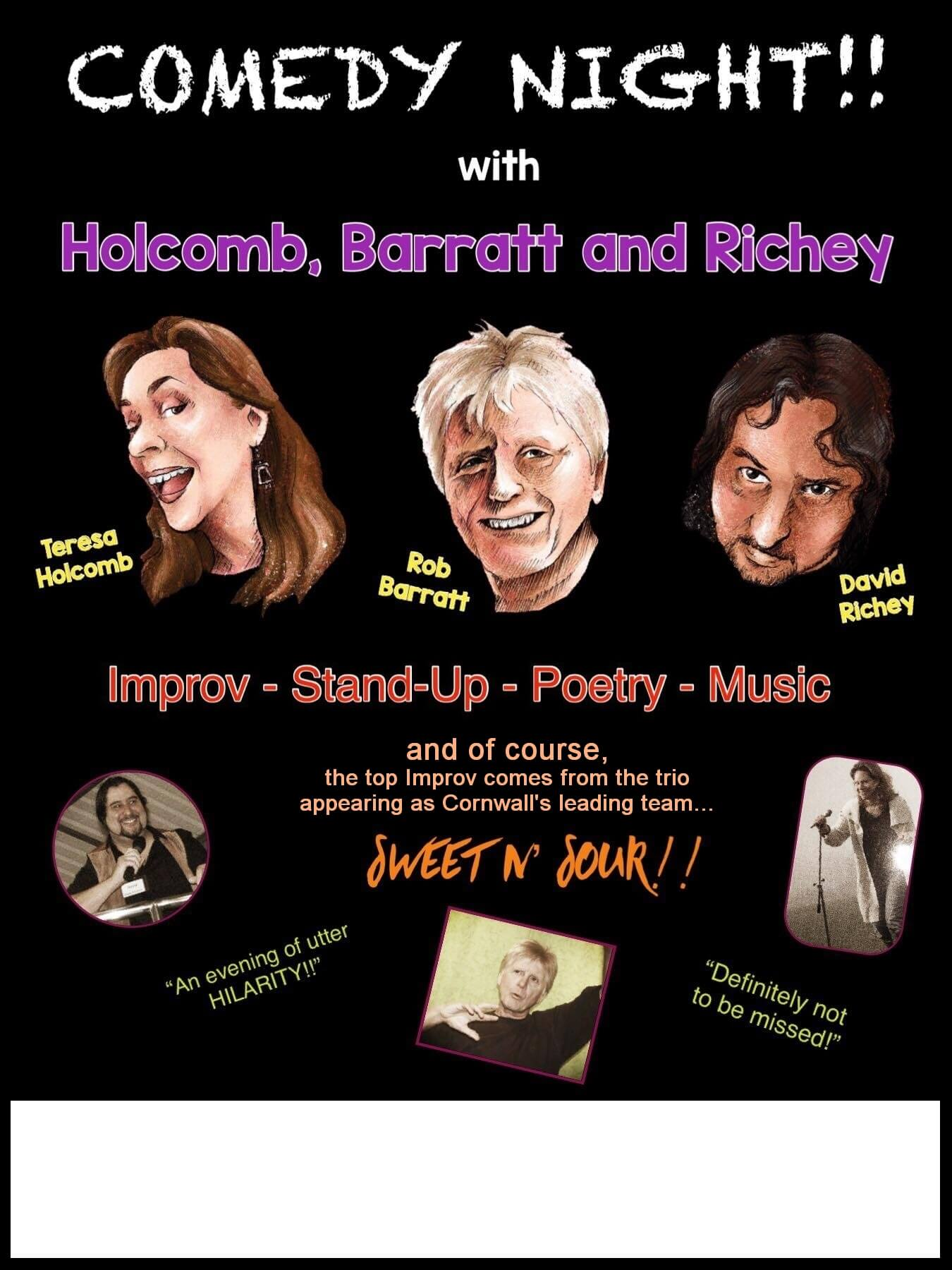 An Evening of Comedy with Holcomb Barratt and Richey