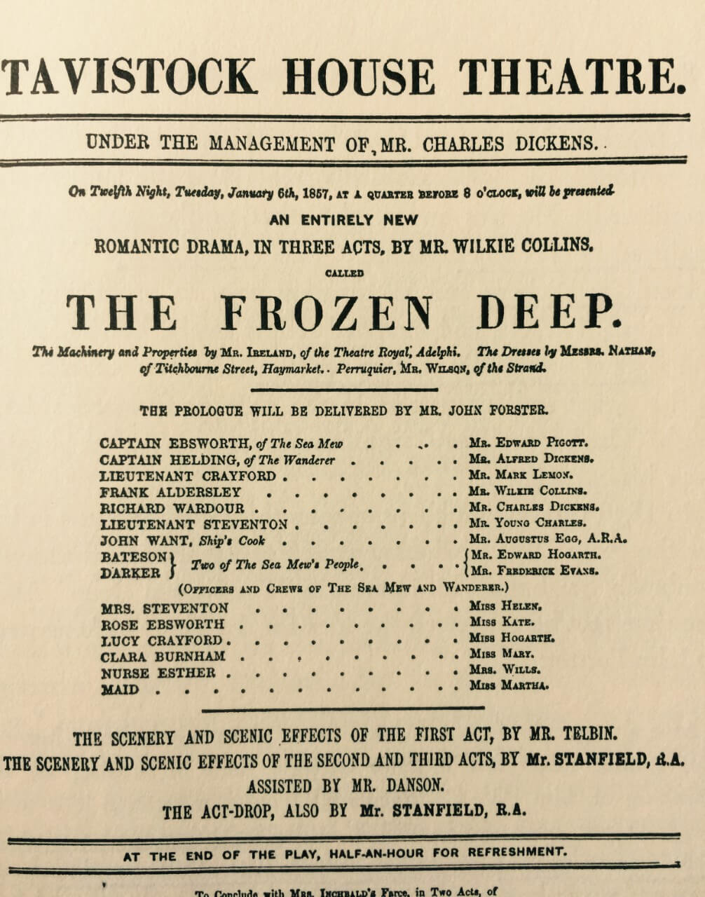 The Frozen Deep - A Play by Mr Wilkie Collins